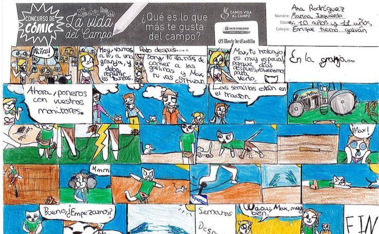 Trabajos de 5º de Primaria en la modalidad de cómic del I Concurso de Dibujo y Cómic 'La vida del campo'