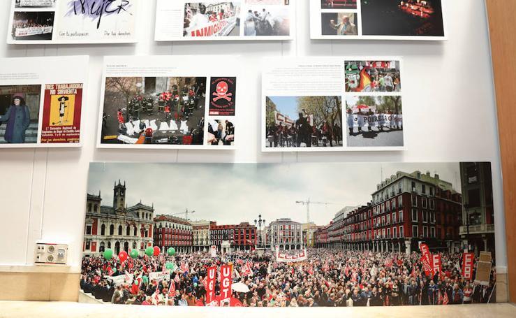 Exposición de CCOO con motivo de su 40 aniversario en Palencia