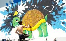 El segoviano Daniel Aguado, tercer premio del Concurso de Grafitis de Íscar