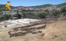 Un incendio originado al soldar un cobertizo afecta a dos hectáreas en Hoyo de Pinares