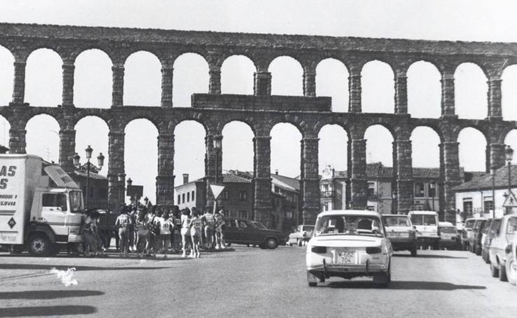 25 años sin tráfico bajo el Acueducto de Segovia