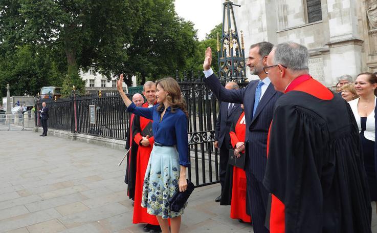 La segunda jornada de la visita de los Reyes a Londres, en imágenes
