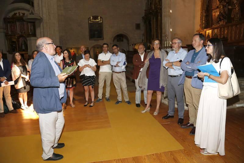 Periodistas de Castilla y León visitan la exposición 'Alonso Berruguete en Paredes de Nava'