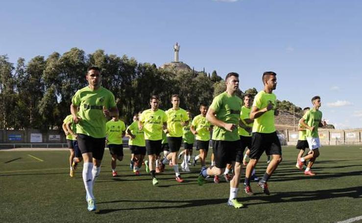Primer entrenamiento de pretemporada del Palencia Cristo Atlético