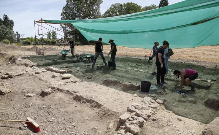 Excavaciones en Herrera de Pisuerga