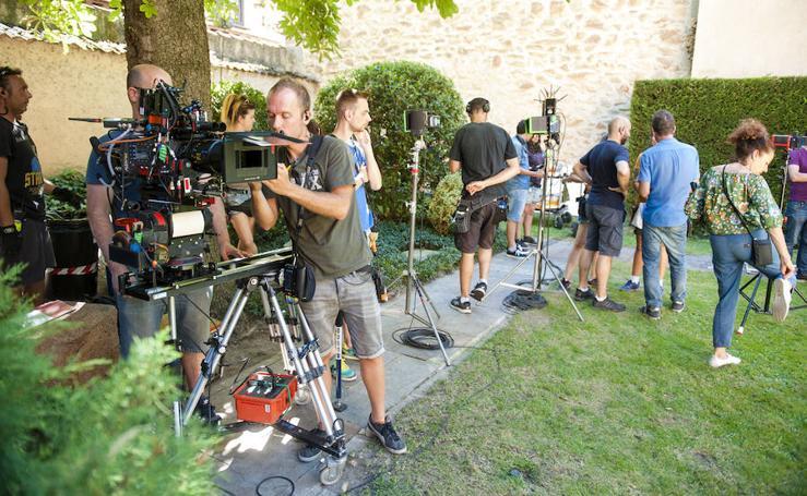 Rodaje de la serie 'Gigantes' en Segovia con Daniel Grao