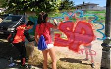 El taller de graffitis de la Diputación de Palencia llega a Santoyo y Tariego