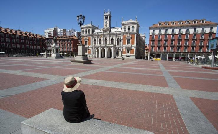 Las calles de Valladolid vacías en agosto