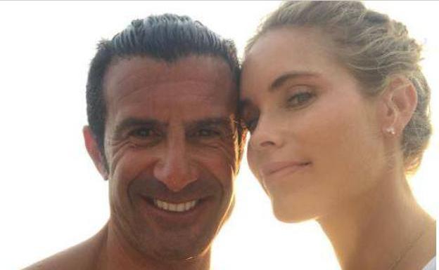 Luis Figo y Helen Swedin presumen de cuerpo en Ibiza