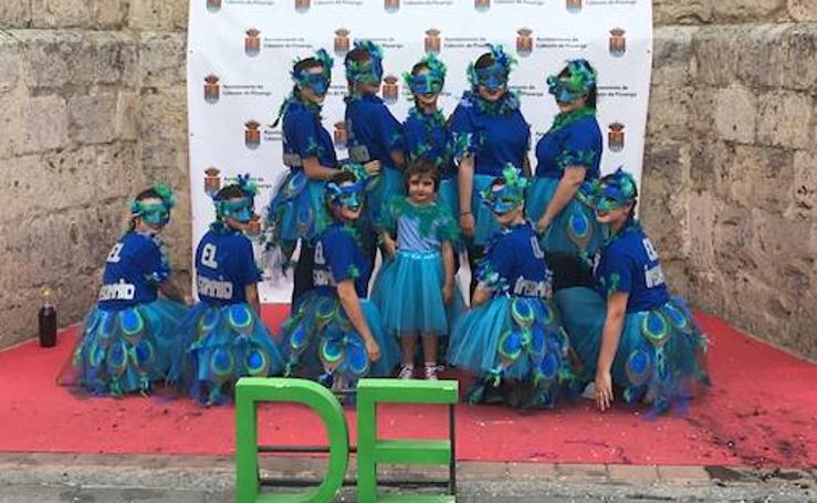 Disfraces en el comienzo de las fiestas de Cabezón de Pisuerga