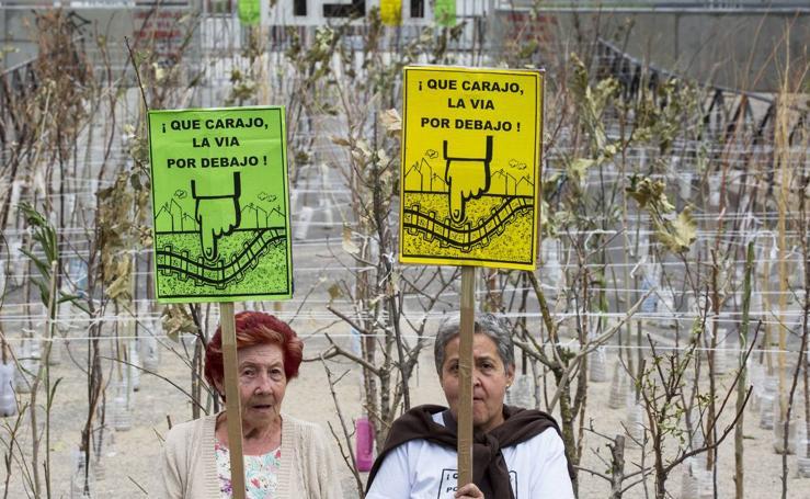 Manifestación de los vecinos de la Pilarica