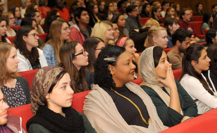 Acto de bienvenida a los alumnos extranjeros de la UVA