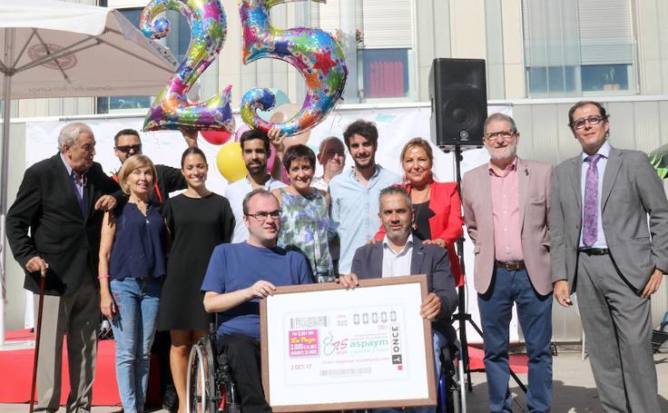 Presentación del cupón que la ONCE dedica a los 25 años de Aspaym