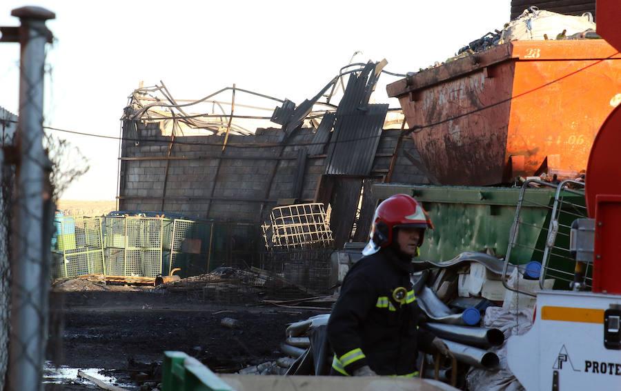Así ha quedado la empresa Hijos de Plácido Hernández tras el incendio