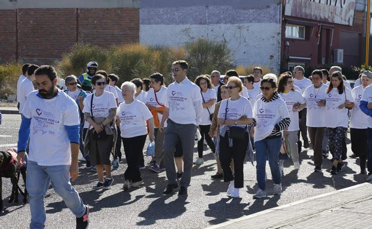 Hermanas Hospitalarias de Palencia celebra con una marcha el Día Mundial de la Salud Mental