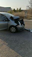 Herido un varón en un accidente de tráfico en el polígono de Santovenia
