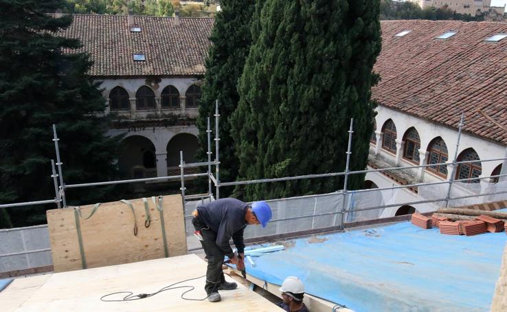 Obras en el Monasterio de El Parral de Segovia