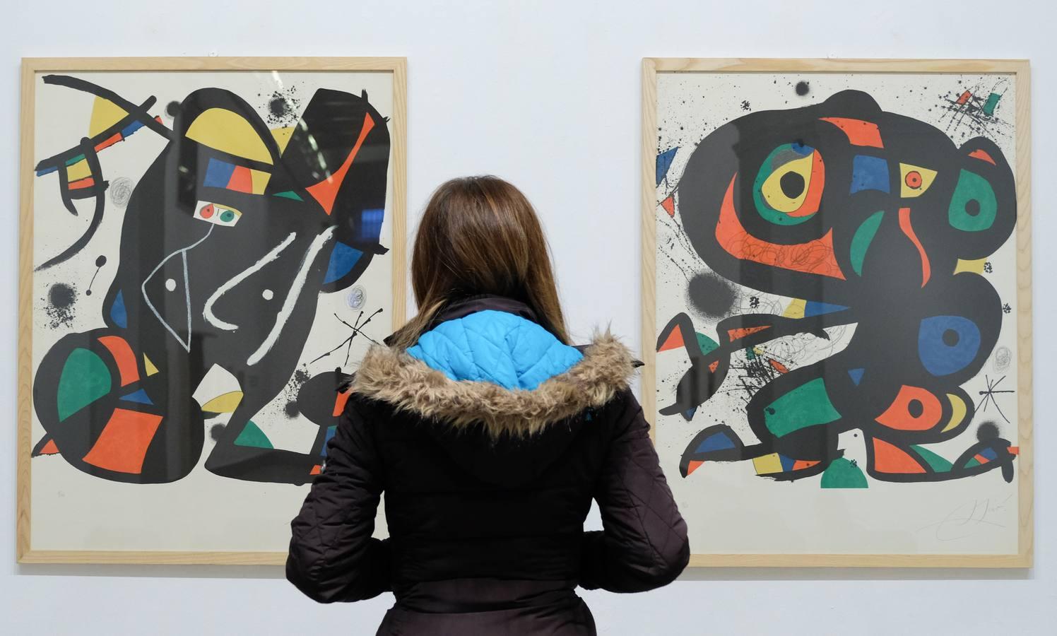 La obra de Joan Miró se expone en la sala de la Pasión de Valladolid