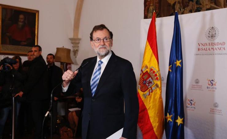 Visita de Rajoy a la Universidad de Salamanca