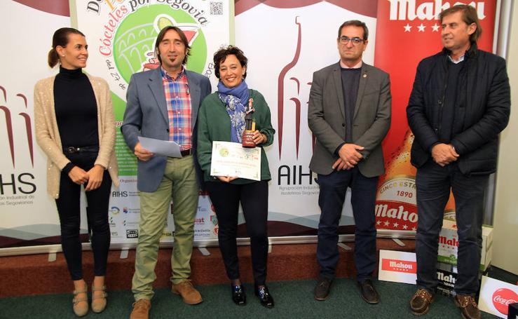 Entrega de los premios de los concursos de tapas, Peketapas y De Cócteles por Segovia