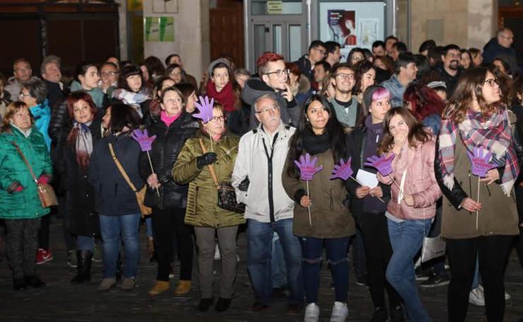 Manifestación contra la violencia de género en Palencia