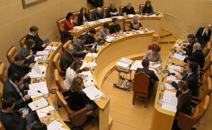 Pleno en el Ayuntamiento de Segovia