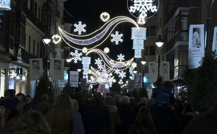 Iluminacion navideña en Valladolid