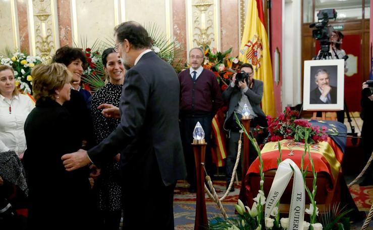 Capilla ardiente de Manuel Marín instalada en el Congreso de los Diputados