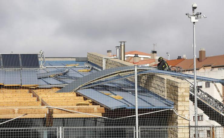 Los efectos de la borrasca 'Ana' en Palencia