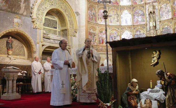 Misa de Navidad en la Catedral Vieja de Salamanca