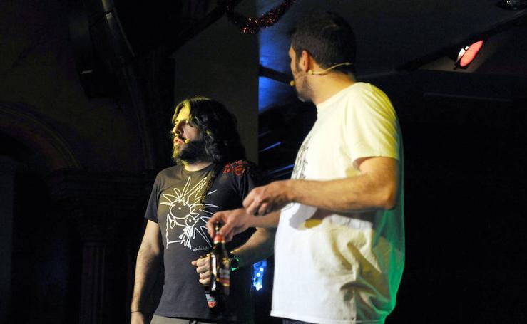 J.J. Vaquero y Nacho Garcia en la sala Porta Caeli