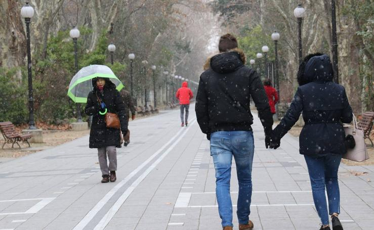 Jornada de frío y lluvia en Valladolid