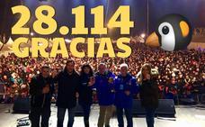 Pingüinos se consolida en su 35 edición con 28.114 asistentes
