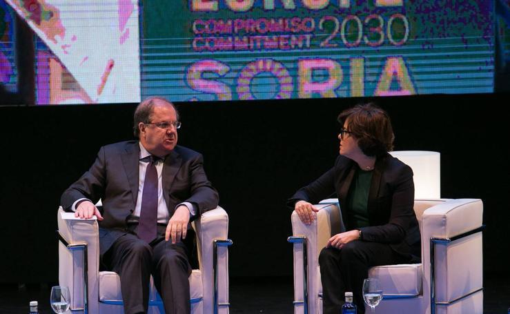 Herrera y Sáenz de Santamaría inauguran en Soria las jornadas 'Think Europe. Compromiso 2030'