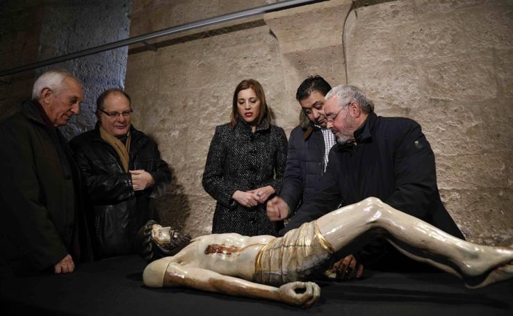 La Fundación Las Edades del Hombre y la Diputación entregan las piezas restauradas en 2017 a las parroquias de Valladolid