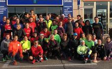 Primer entrenamiento grupal para preparar la VII Media Maratón Ciudad de Salamanca