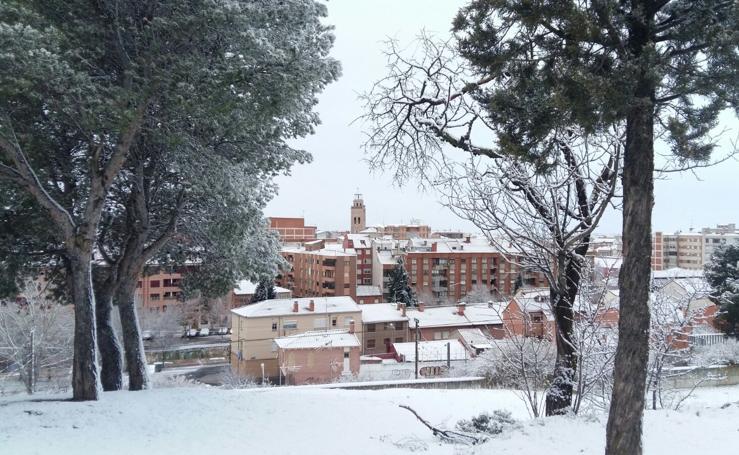 Nieve en Medina del Campo