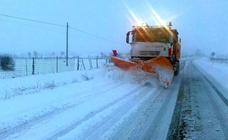 La nieve obliga a circular con precaución en toda la provincia