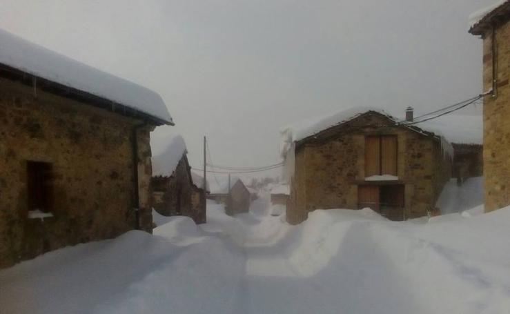 Estampas nevadas en La Pernía y Brañosera