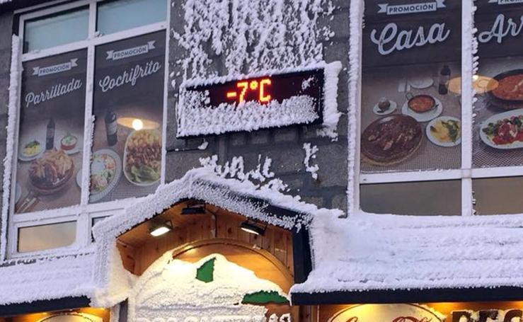 Jornada de intenso frío en Segovia