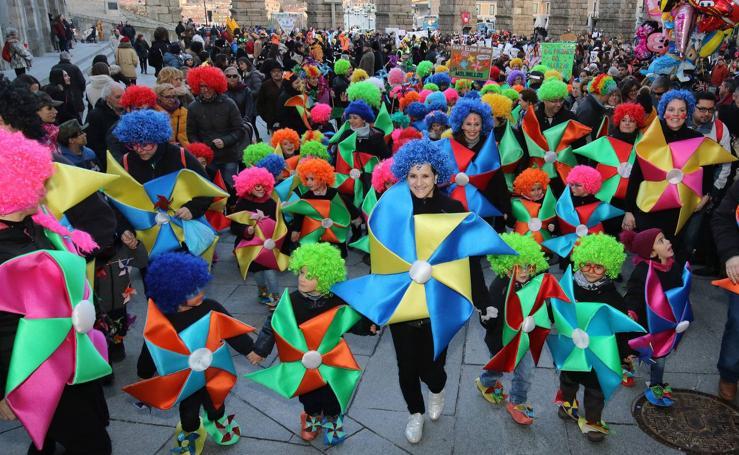 Desfile infantil del lunes de carnaval en Segovia