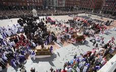 Programa de procesiones del Domingo de Resurrección, 1 de abril, en Valladolid