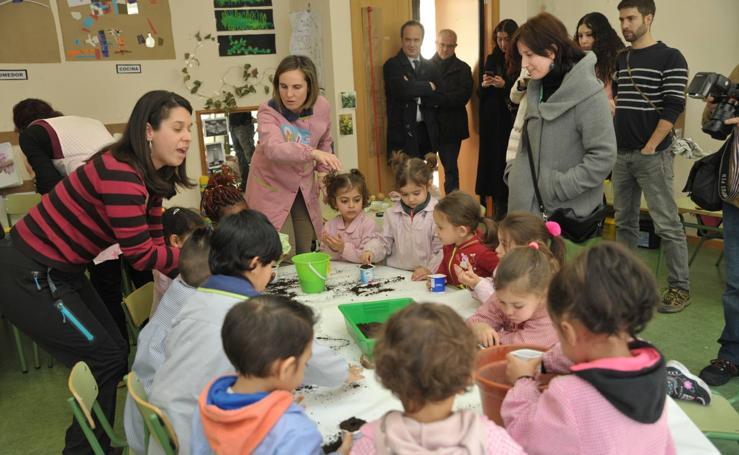 Visita al programa de Huertos Escolares del Colegio Público Francisco de Quevedo