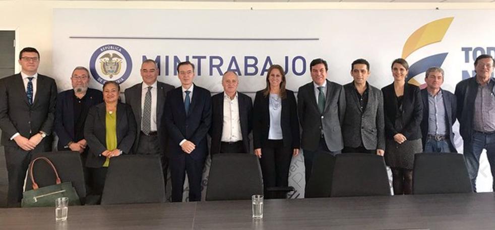 Colombia se fija en Castilla y León para fortalecer el diálogo social como vía de solución de conflictos