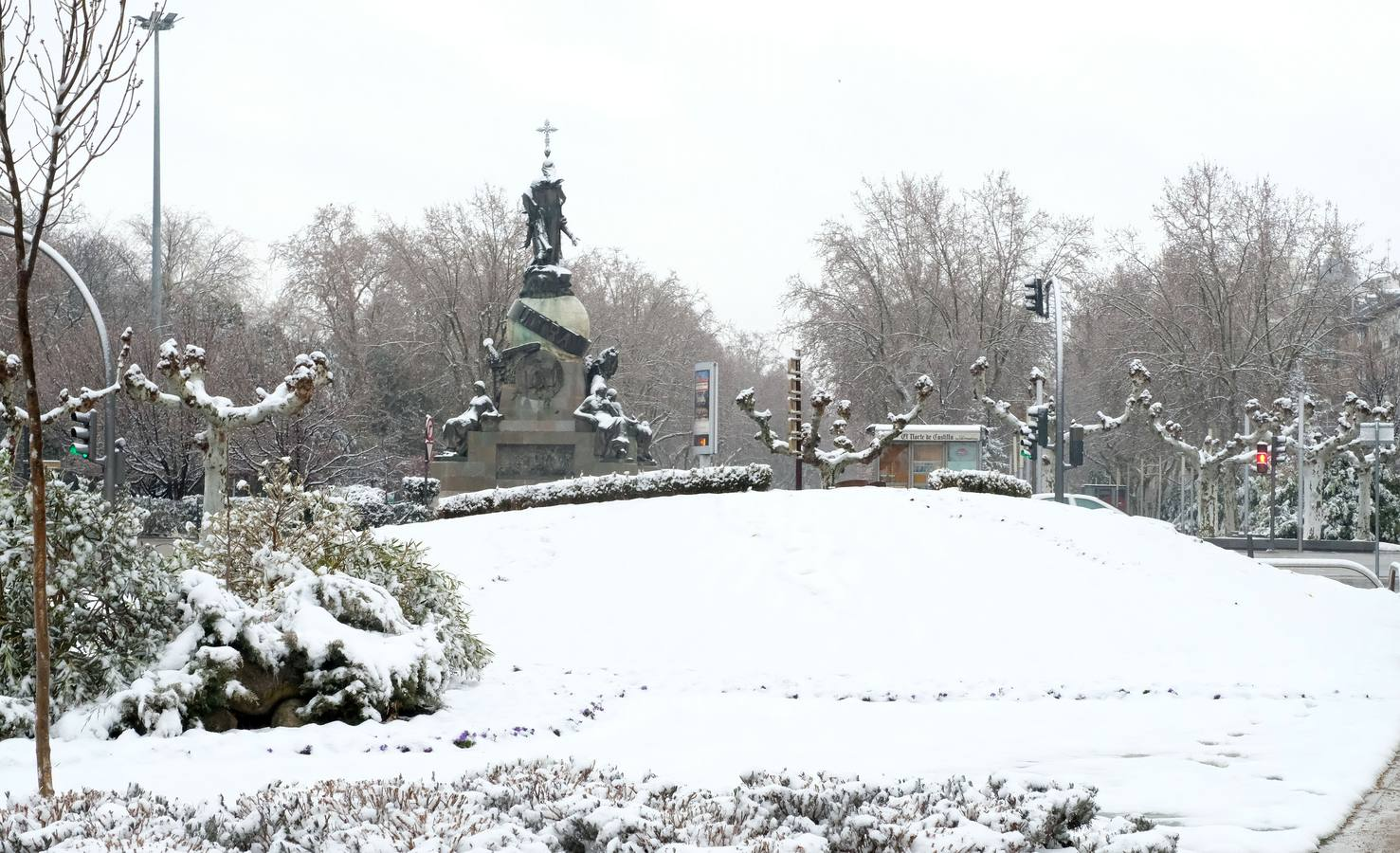 Valladolid, hace un año: diez centímetros de nieve