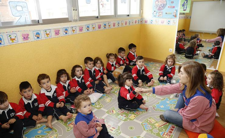 El colegio Sagrado Corazón de Venta de Baños, en imágenes