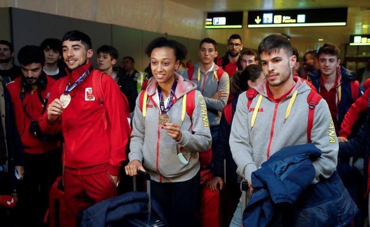 Los atletas españoles llegan a Madrid del Mundial de Birmingham