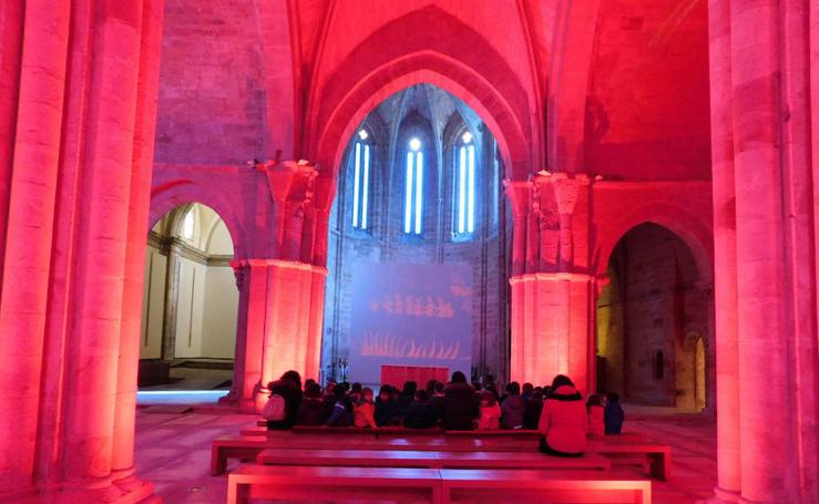 Escolares de Aguilar descubren el monasterio de Santa María la Real