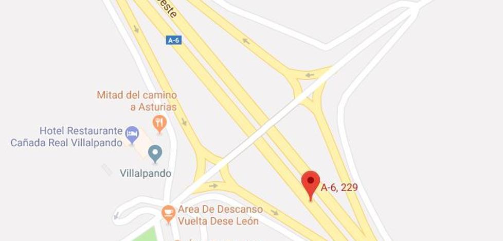 Cuatro heridos en un choque entre tres turismos en la A-6 a su paso por Villalpando (Zamora)