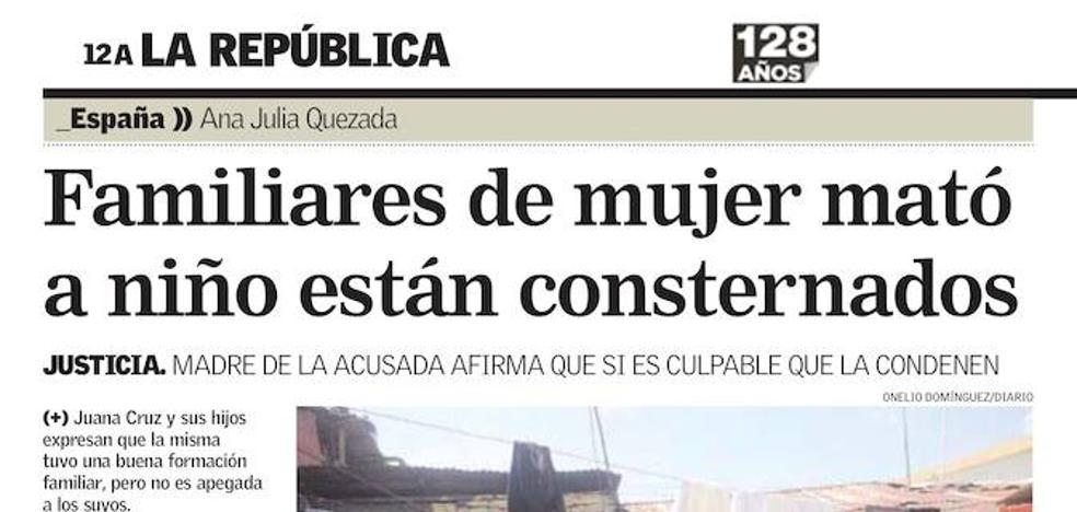 Reacciones enfrentadas de la familia de Ana Julia Quezada, en la prensa dominicana del martes